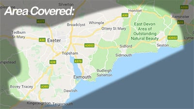 exeter-aerial-installer-devon-map
